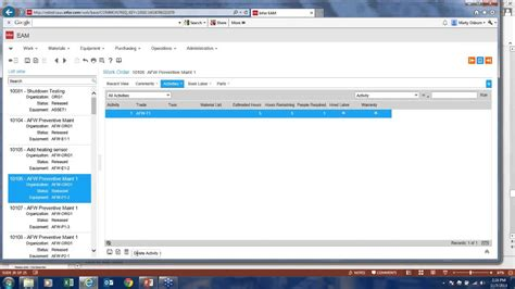 Eam Search Demo What S Next And What S New Infor Eam V 11