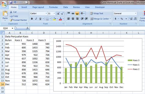 membuat grafik 3 variabel di excel cara membuat grafik di excel