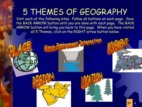 themes of cultural geography ppt 5 themes of geography powerpoint presentation id