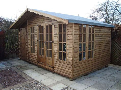 Shed And Summerhouse Combined by Petersham Mb Garden Building
