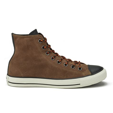 Jual Converse Leather Hi converse s chuck all suede leather hi top trainers cashew black turtle free