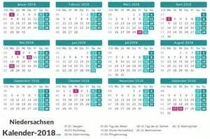 Kalender 2018 Niedersachsen Pdf Kalender 2018 Niedersachsen