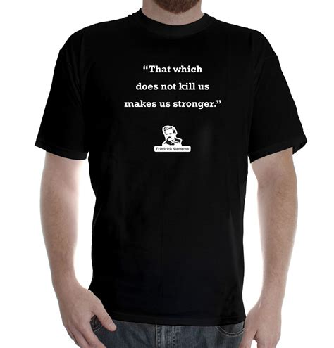 mens printed cotton t shirt shirt design friedrich nietzsche stronger ebay