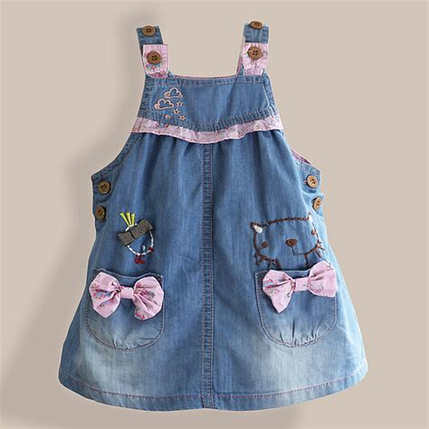 Denim Dress Pocket Limited 2016 denim dress lovely bow patch pocket
