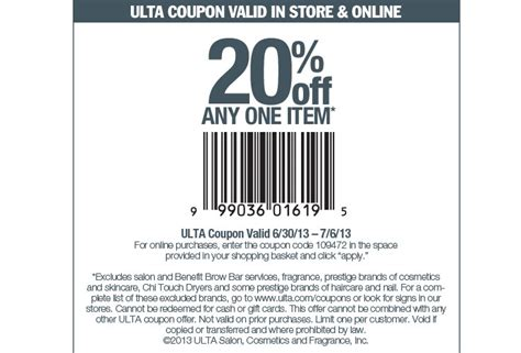 ulta printable discount coupons 24dealz ulta coupons july and august 2013