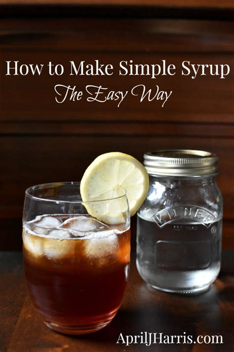 make simple syrup