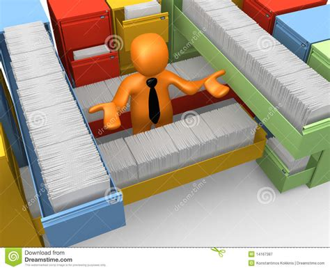 lavoro di ufficio lavoro di ufficio illustrazione di stock illustrazione di
