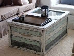 Distressed trunk coffee table foter