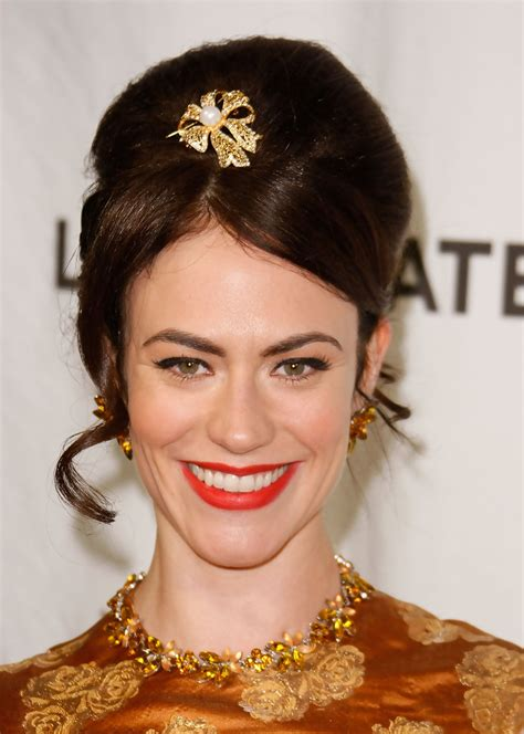 does mavgie siff wear extensions maggie siff red lipstick maggie siff makeup looks