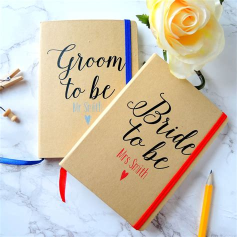 Brides Wedding Planner by Personalised And Groom Wedding Planner Notebooks By