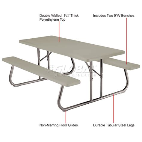 Folding Plastic Picnic Table Benches Picnic Tables Picnic Tables Plastic Recycled Plastic Lifetime 174 Fold Away Picnic
