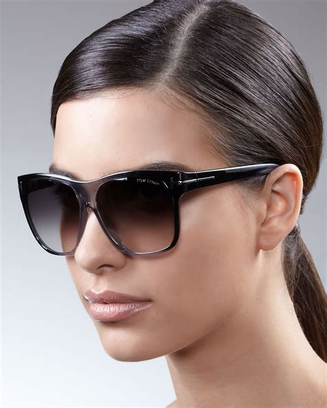 Gradient Sunglasses lyst tom ford gradient sunglasses in black