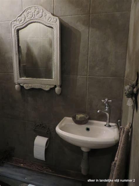 Spiegel Toilet Landelijk by Sfeer In Landelijke Stijl Nummer 2 Toilet