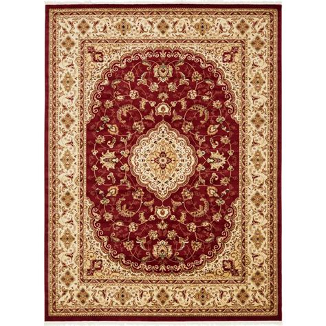 naples rugs unique loom burgundy 9 ft 10 in x 13 ft naples area rug 3140669 the home depot