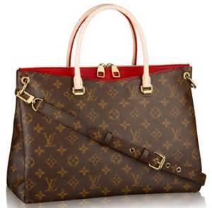 Cowhide Leather Trim Louis Vuitton Pallas Handbag
