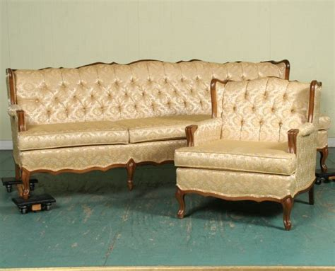 sofa in french translation 1235 1235 mid 1900 s french provincial sofa and chair
