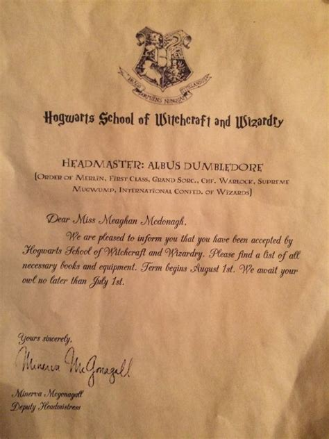 Hogwarts Acceptance Letter Buy Personalized Hogwarts Acceptance Letter By Cornerofthecosmos Letters Etsy