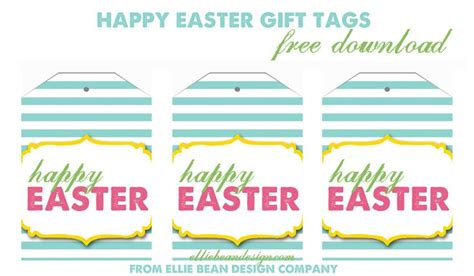 printable easter labels happy easter gift tags free download from ellie bean