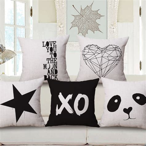 Bantal Sofa Cushion Designer Size 45x45cm 11 you custom cushion covers 45x45cm black and white decorative pillows covers panda
