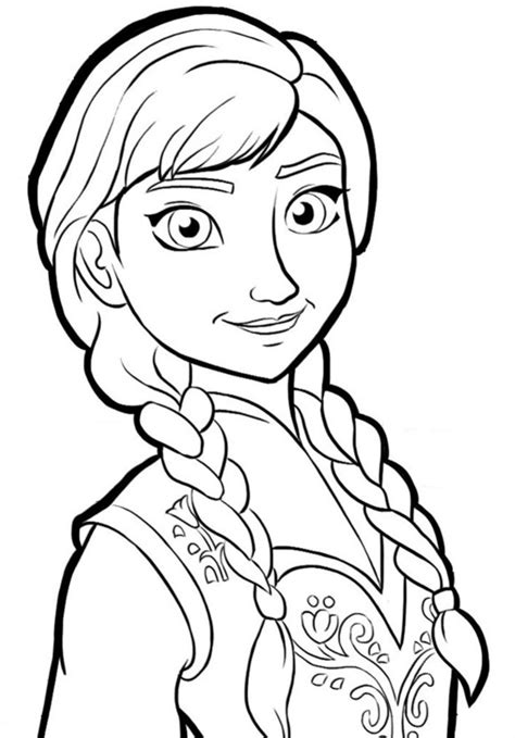Frozen Coloring Pages Just Anna | frozen coloring pages frozen coloring book part 2