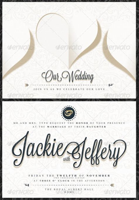 wedding information card template wblqual com