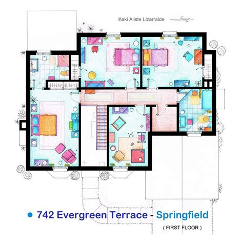 the simpsons house floor plan from friends to frasier 13 famous tv shows rendered in