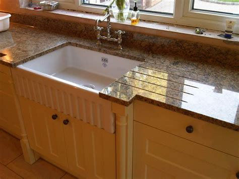 Kitchen Sink Worktop Baltic Brown Granite Kitchen Worktop With A Polished Sink