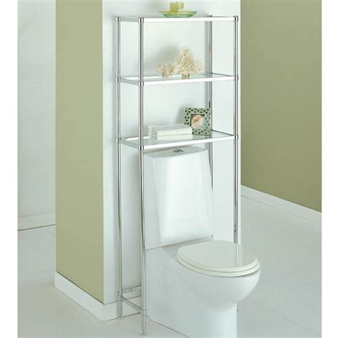 the toilet etagere in the toilet shelving