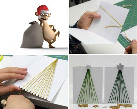 Weihnachtsmotive Zum Basteln by Weihnachtskarten Mit Kindern Basteln Hier Sind Meine Top