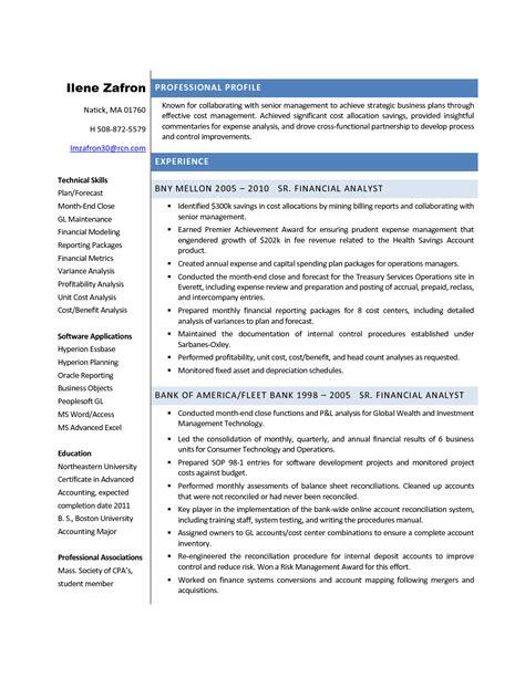financial analyst resume sample resume financial analyst best