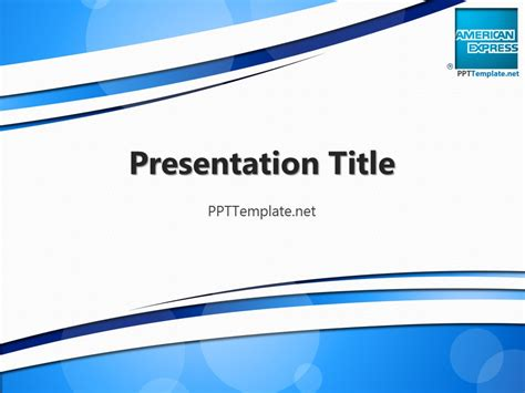 ppt templates free free american express with logo ppt template