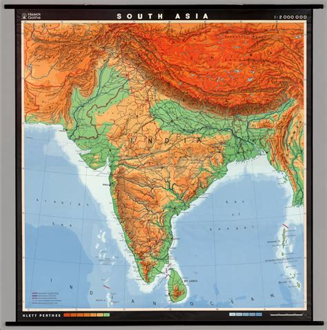 south asia physical map physical south asia map