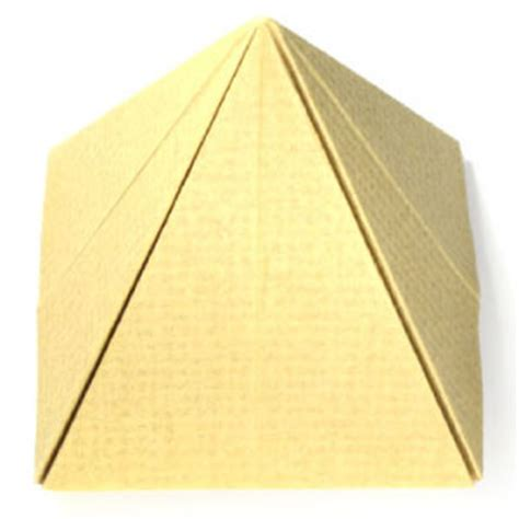 Pyramid Paper Folding - how to make a simple origami pyramid page 1