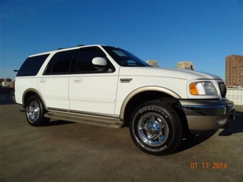 Expedition 6710 White Black Leather Original purchase used 02 ford expedition eddie bauer 4x4 auto