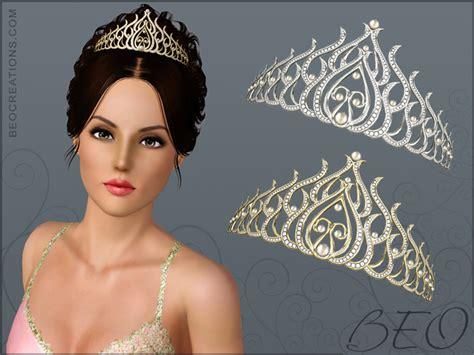 sims 3 wedding hair beo creations diamond tiara ts3 hats and hair
