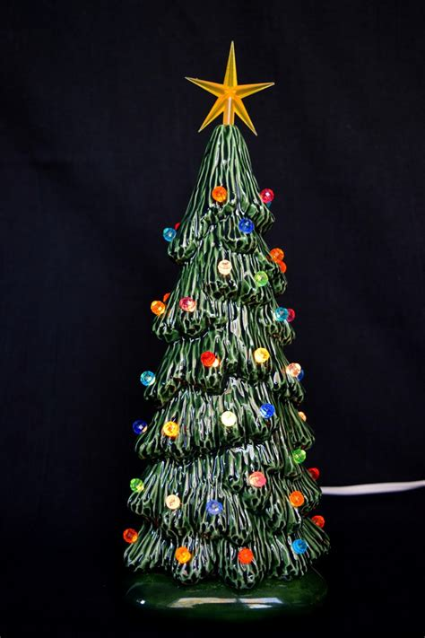 ceramic christmas tree slim christmas tree 9 inches tall