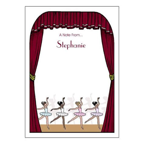 Thank You Letter Key Stage 1 ballet or recital thank you note cards mandys moon