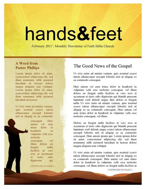 missionary outreach church newsletter template