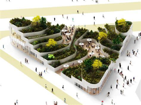 sanya lake park super market proposal nl architects