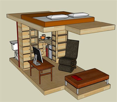 Home Plans With Photos Of Interior Sketchup 3d Tiny House Designs