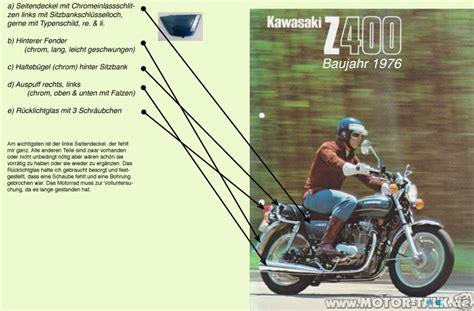 Motorrad Teile Gesuche by Teile F 252 R Kawasaki Z400 Bj 1976 Gesucht Suche