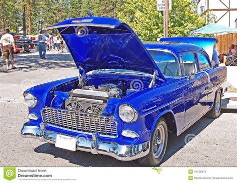 electric blue chevrolet editorial stock image image