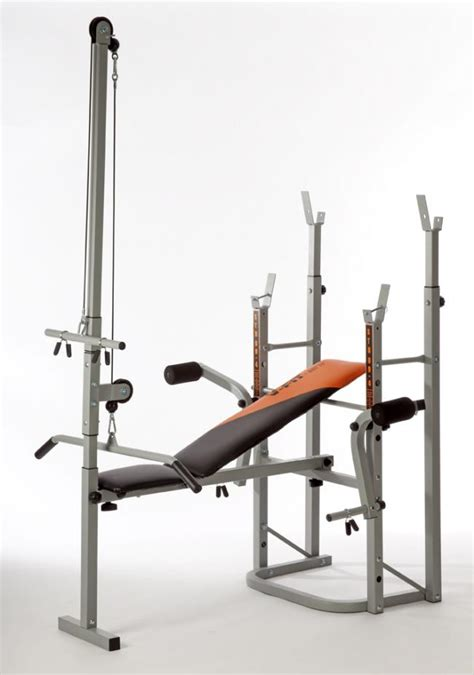 Weight Bench With Lat Tower herculean stb09 4 folding weight bench with leg unit fly