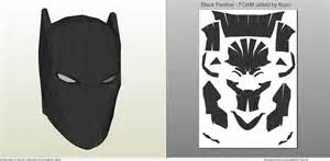 papercraft pdo file template for black panther mask