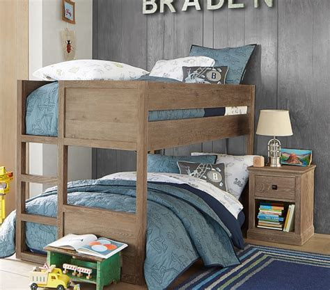 twin low loft bed camden twin over twin low bunk bed pottery barn kids