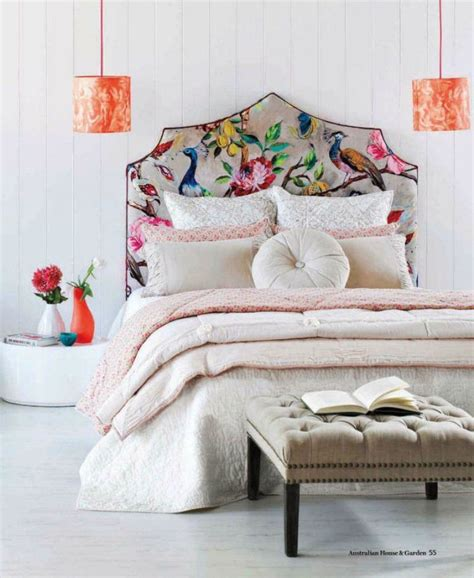 floral headboard delicate bedroom with one of these 40 feminine headboards