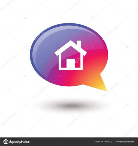 home speech icon isolated house speech