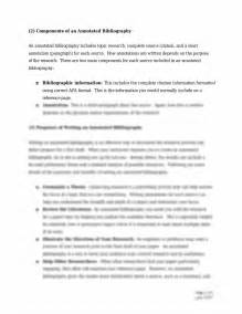 annotated bibliography template apa format exle of annotated bibliography title page