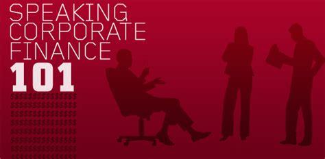 speaking corporate finance