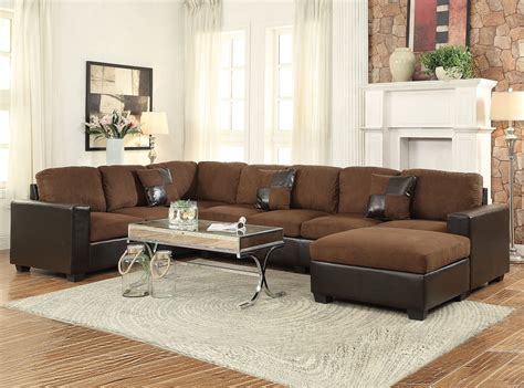 chocolate microfiber pc sectional sofa set hot sectionals